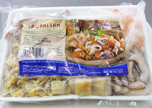 Seafood mix<br />Weight: 500g<br />Carton: 500g  x 20 trays = 10kg<br />