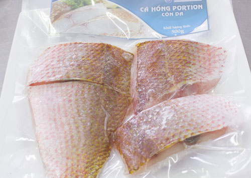 <br />Scarlet snapper portion<br />Weight: 500g<br />Carton: 500g  x 24 packs = 12kg<br />